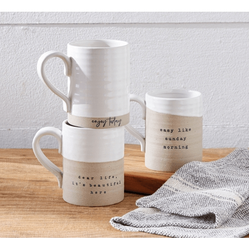 Stoneware Mugs With Sayings