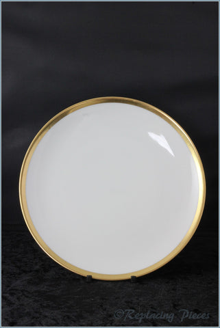White with Thick Gold Band
