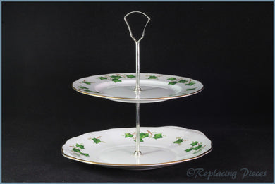 Colclough - Ivy Leaf (8143) - 2 Tier Cake Stand