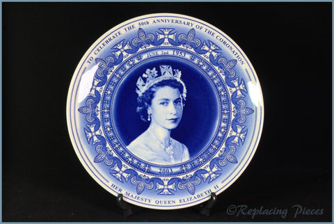Wedgwood - Commemorative Ware - 50th Anniversary Coronation Plate (2003)