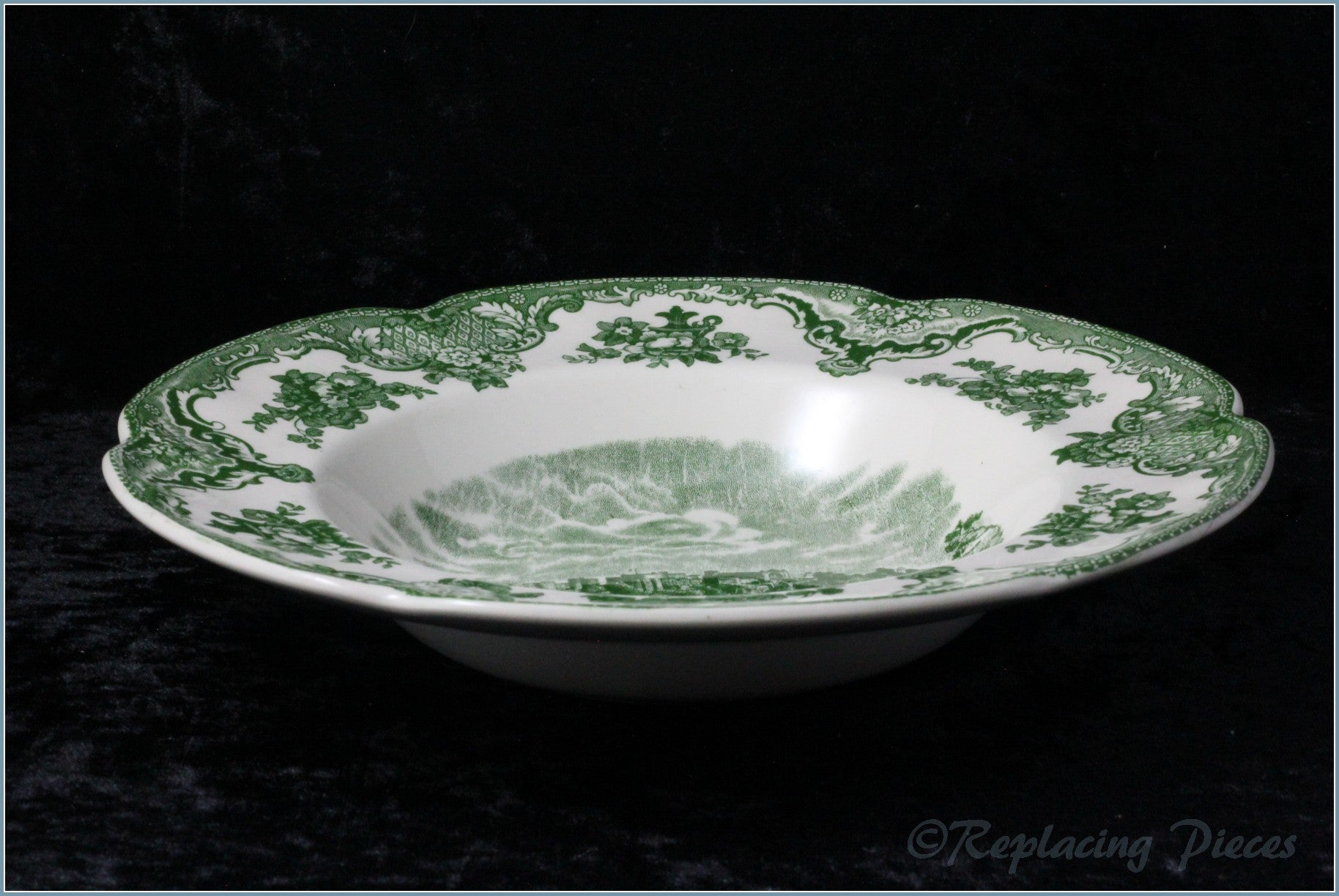 Johnson Brothers - Old Britain Castles (Green) - Rimmed Bowl