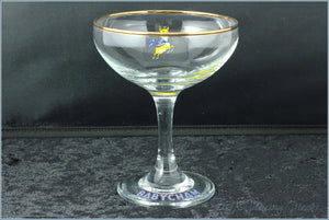 Babycham Glass - Wording On Foot