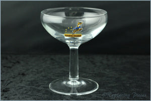 Babycham Glass - Wording Under Leaping Deer On Bowl, Plain Foot