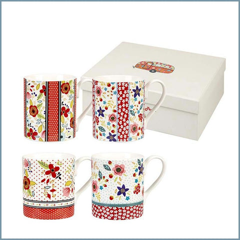Queens - Caravan Trail - Beach Break Larch Giftset (4 Mugs)