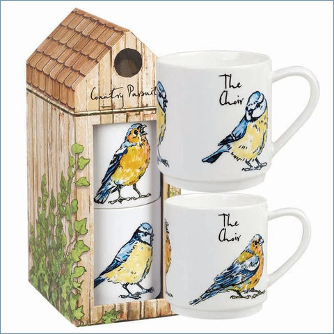 Queens - Country Pursuits - The Choir Stacking Mug Set In Gift Box - NEW