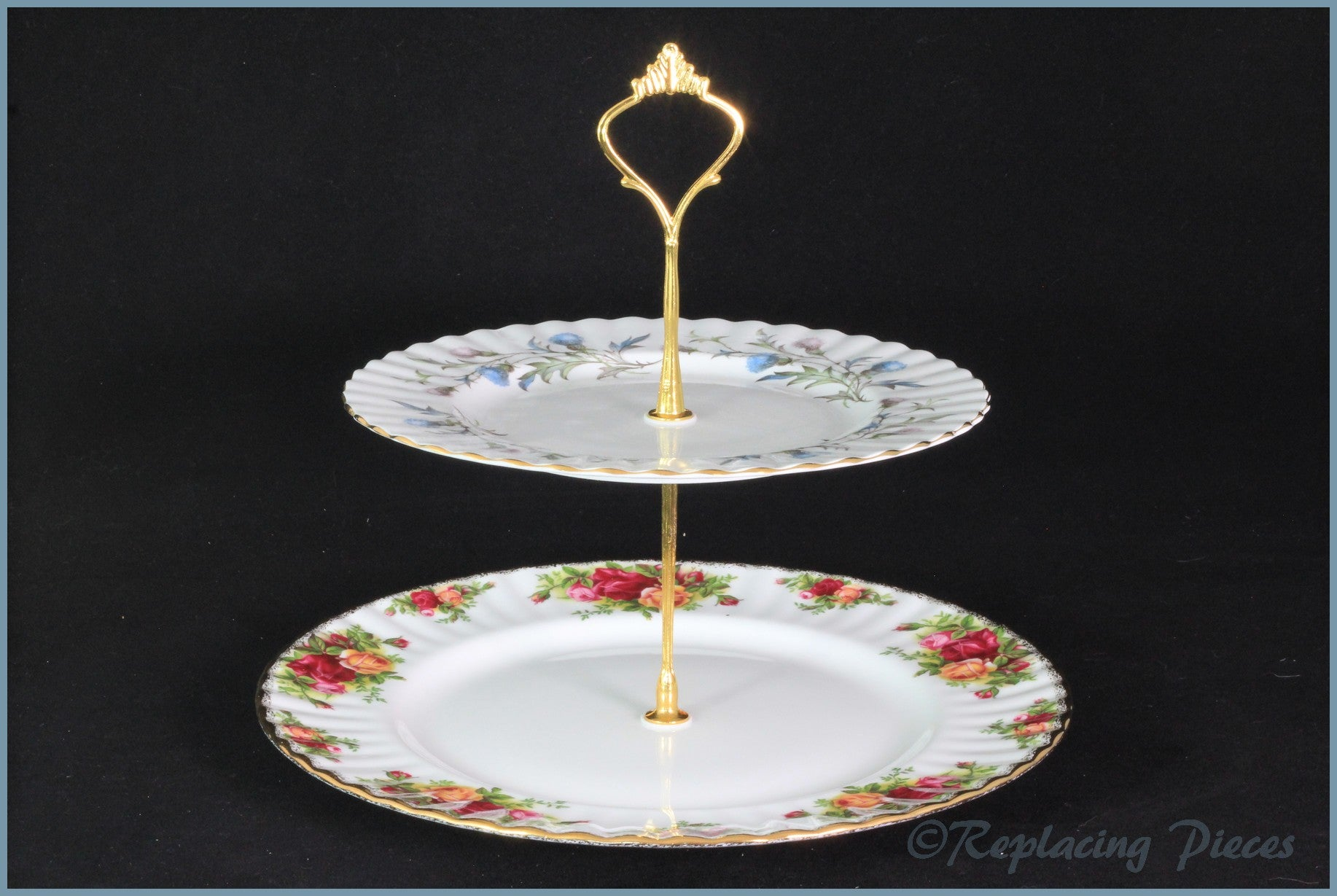 Cake Stand - RPCS7 (Royal Albert Old Country Roses & Brigadoon)