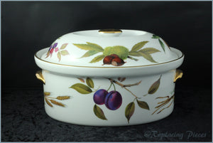 Royal Worcester - Evesham Gold - 3 Pint Oval Casserole Dish