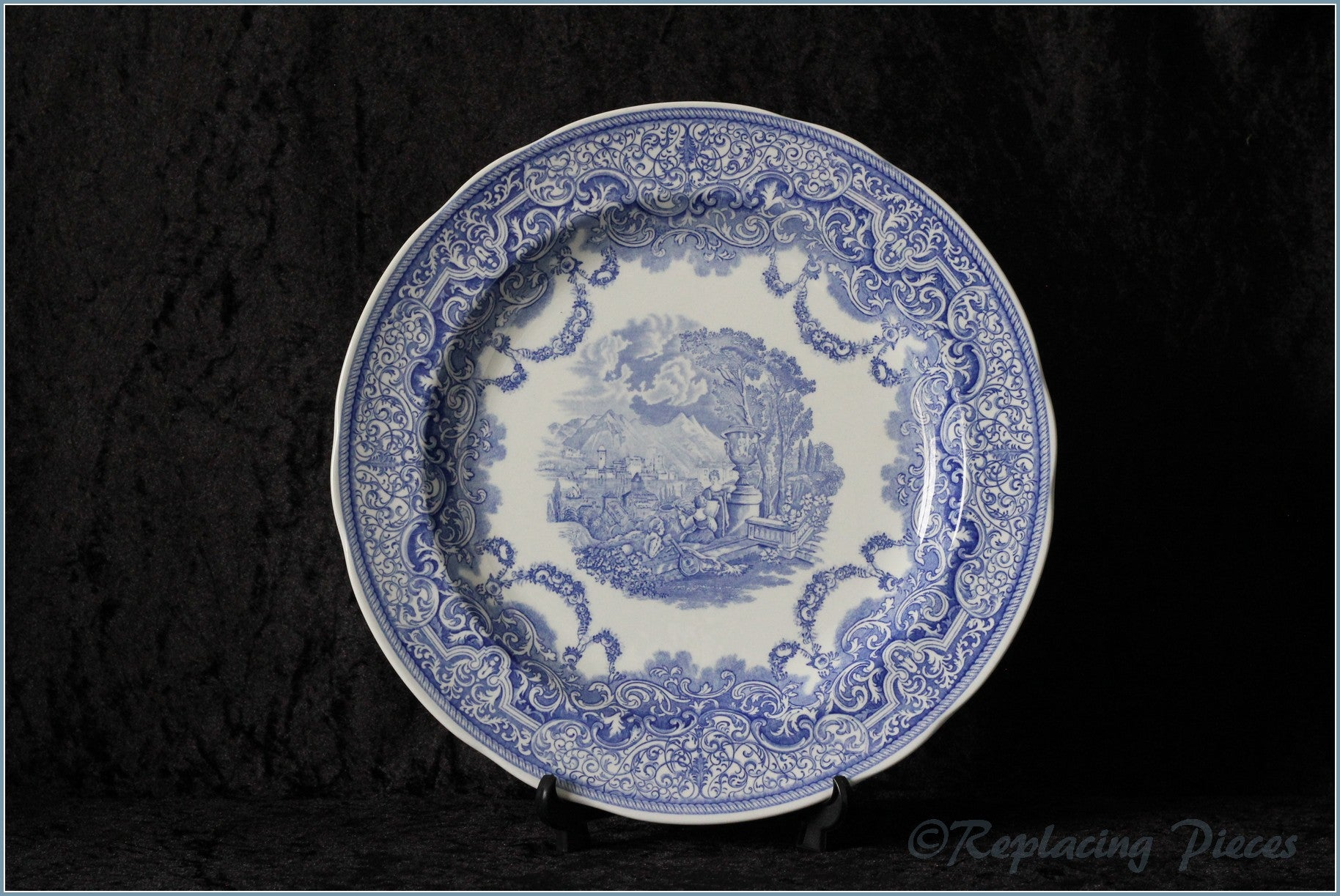 Spode - Blue Room Collection - Dinner Plate (Continental Views 1884)
