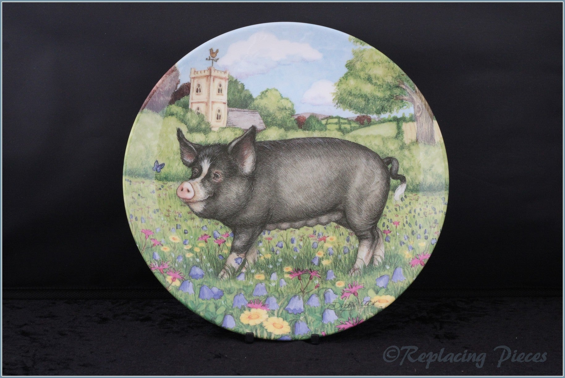 Royal Doulton - Pigs In Bloom - Harebell