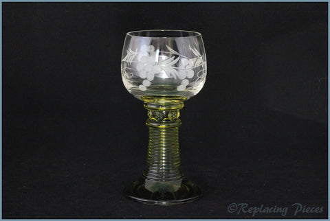 Green Stemmed Wine Glass