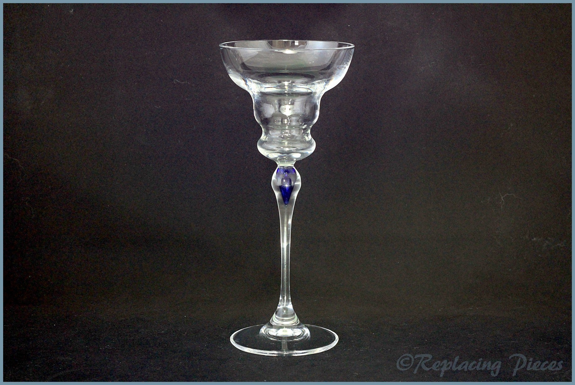 Marguerita Glass With Blue Accent