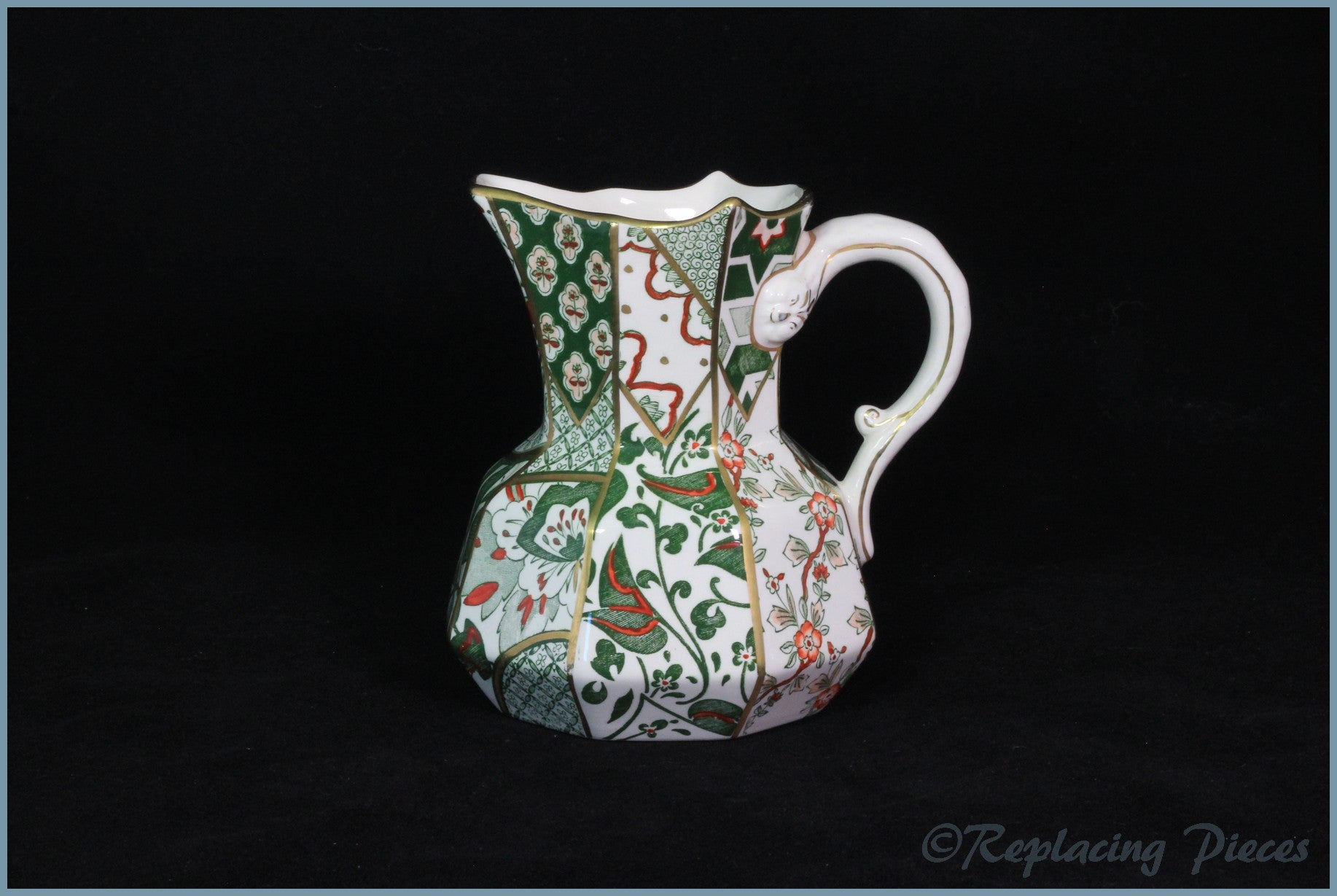 Masons - Applique Green - Hydra Jug (medium)