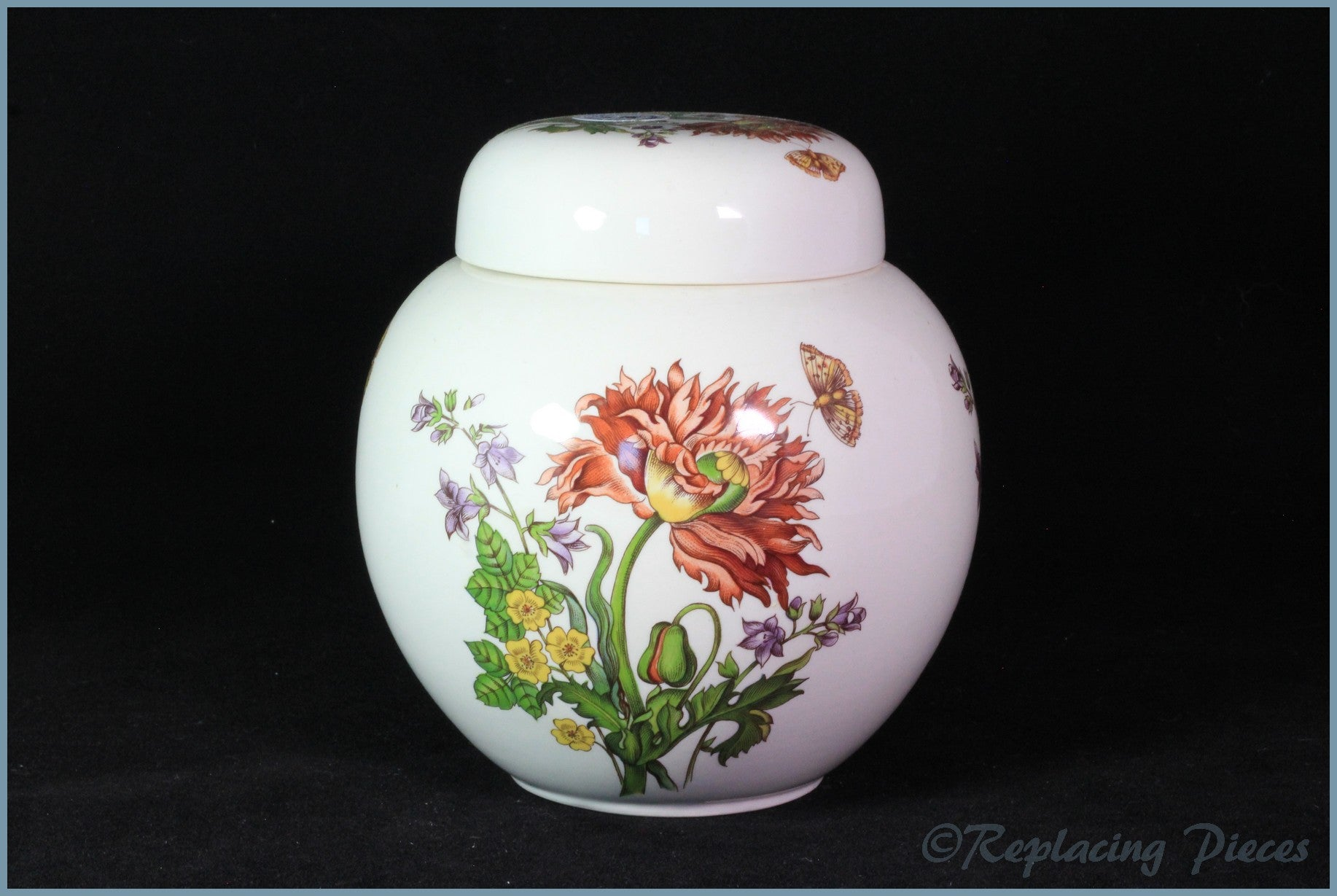Masons - Floral 1 - Ginger Jar (medium)