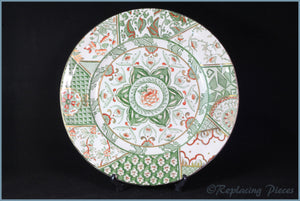 Masons - Applique Green - Dinner Plate