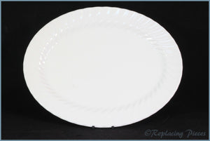 "Johnson Brothers  - Regency White - 13 1/2"" Oval Platter"