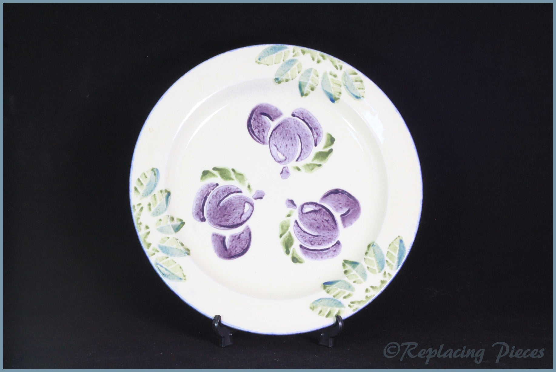 "Poole - Dorset Fruit - 10 5/8"" Dinner Plate (Plum)"