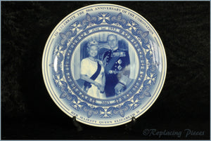 Wedgwood - Commemorative Ware - 50th Anniversary Coronation Plate