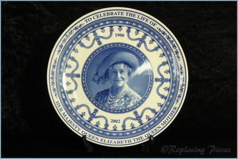 Wedgwood Commemorative Ware - Queen Mother Life Celebration Plate