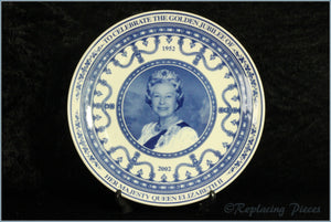 Wedgwood Commemorative Ware - Queen Elizabeth 2nd Golden Anniversary Plate