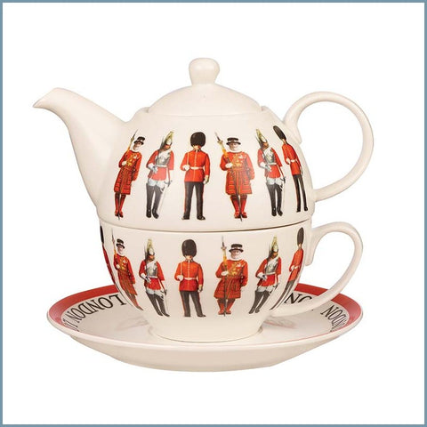 James Sadler For Queens - Guards - Tea For One Set