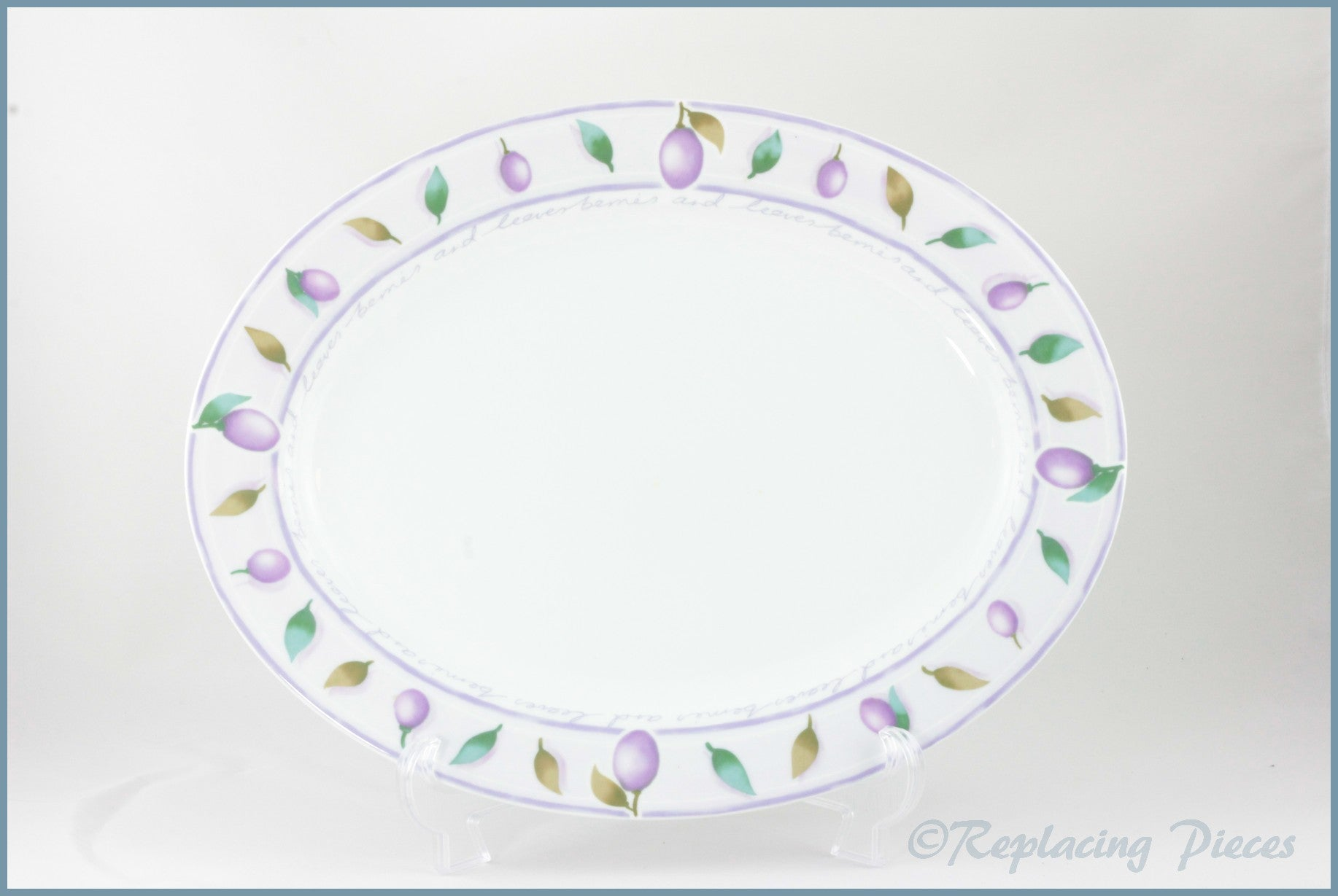 Marks & Spencer - Berries And Leaves - Oval Platter