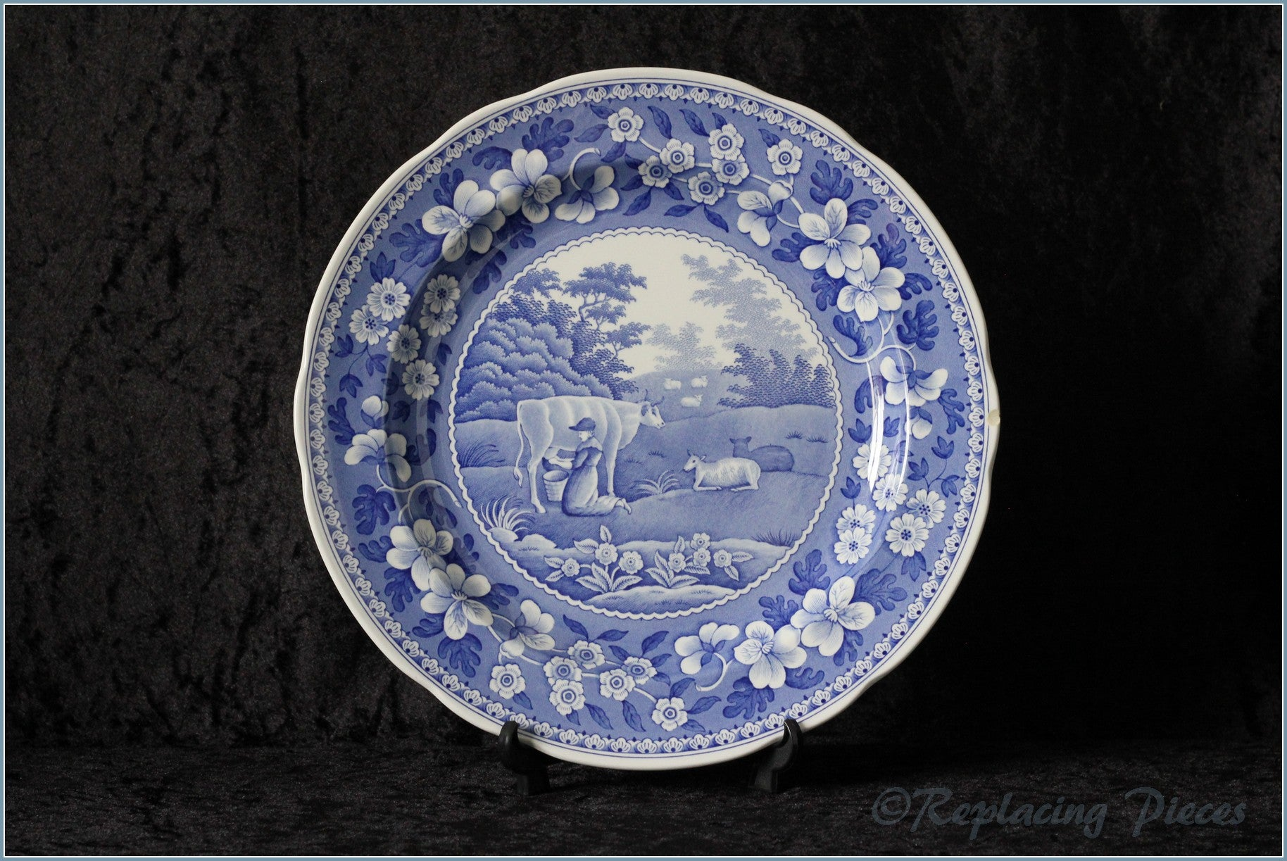Spode - Blue Room Collection - Dinner Plate (Milk Maid)