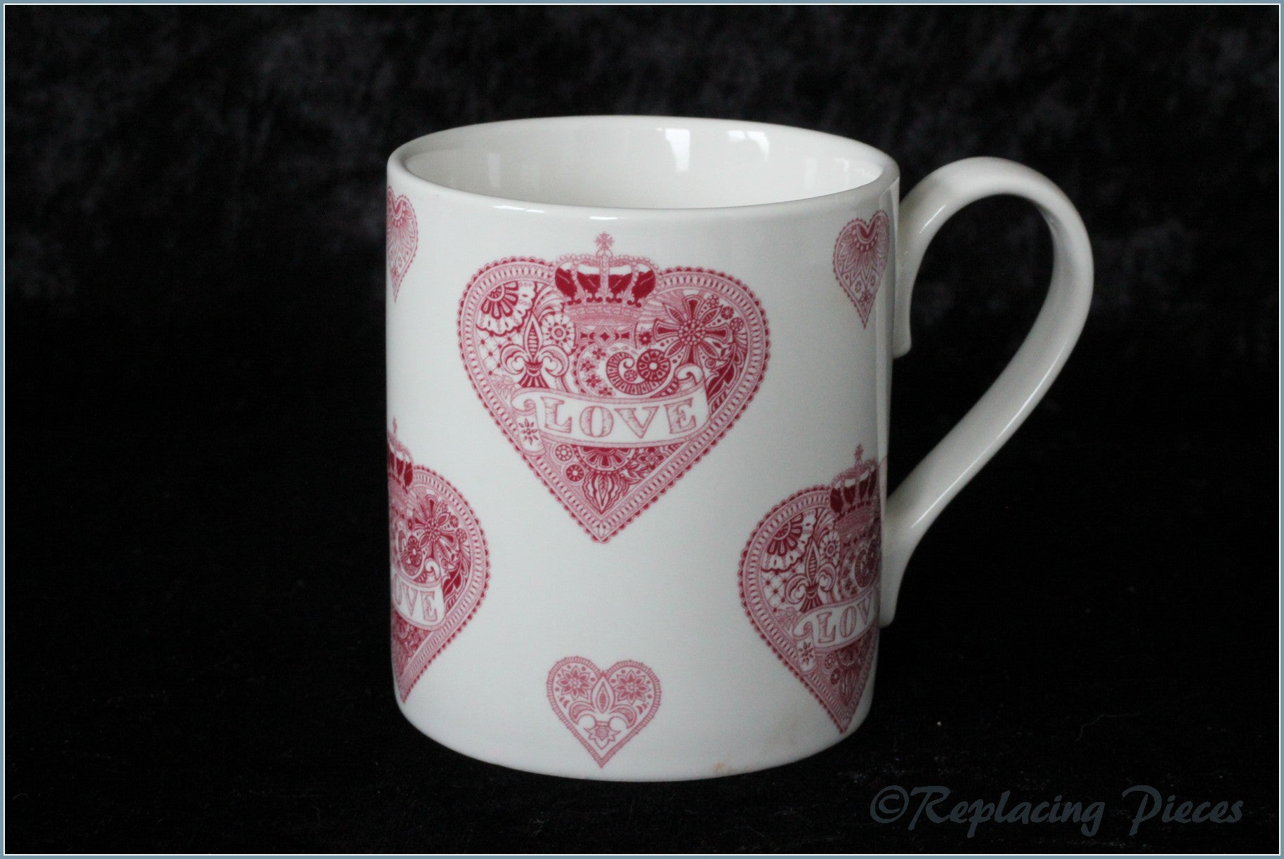 Queens - Made With Love - Mug (Pink Hearts)
