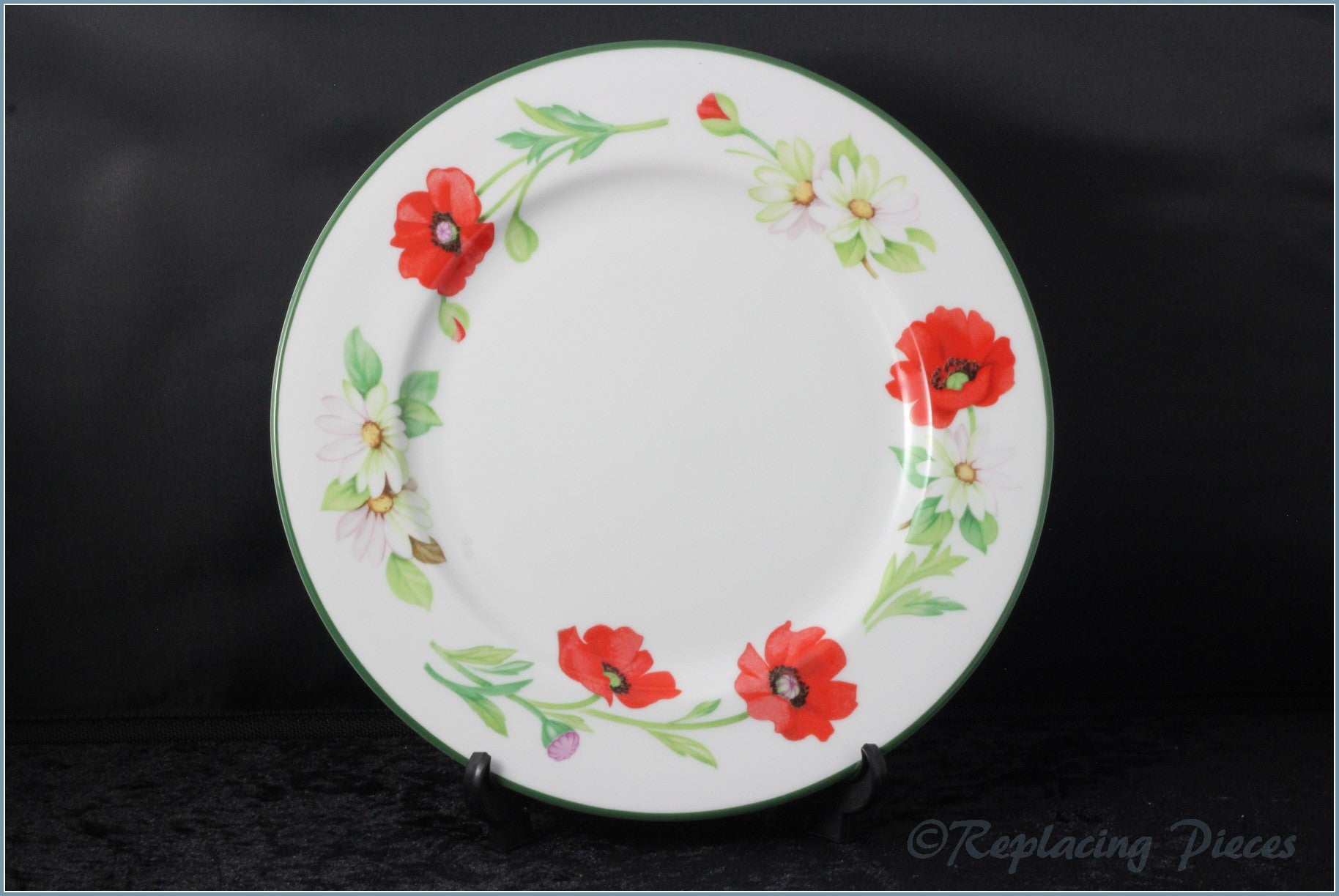"Royal Worcester - Poppies - 8 3/8"" Salad Plate"