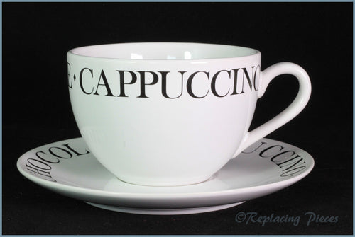 RPW56 - Whittards - Cappuccino Cup & Saucer (Script)
