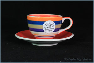 RPW57 - Whittards - Coffee Cup & Saucer (Stripe)