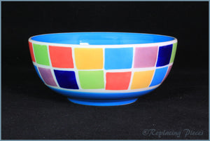 RPW61 - Whittards - Cereal Bowl (Multi Coloured Squares)