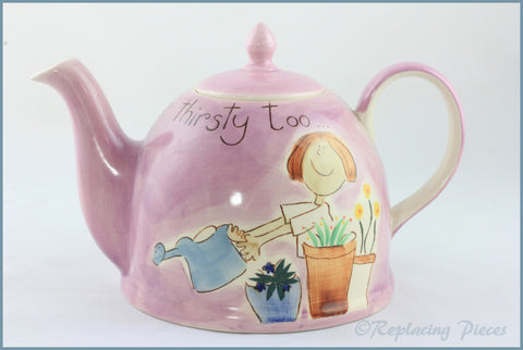 RPW87 - Whittards - 2 1/2 Pint Teapot (Flowers Get Thirsty Too)