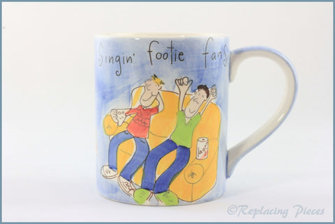 RPW98 - Whittards - Large Mug - Footie Fan
