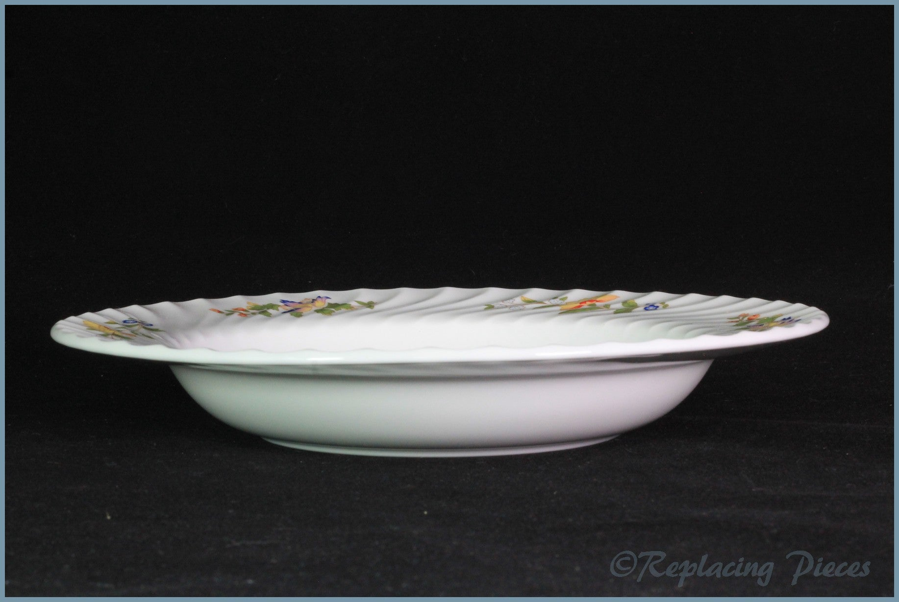 "Aynsley - Cottage Garden - 9 3/8"" Rimmed Soup Bowl"