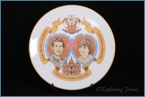 Royal Worcester - Charles & Diana 1981 Wedding Plate