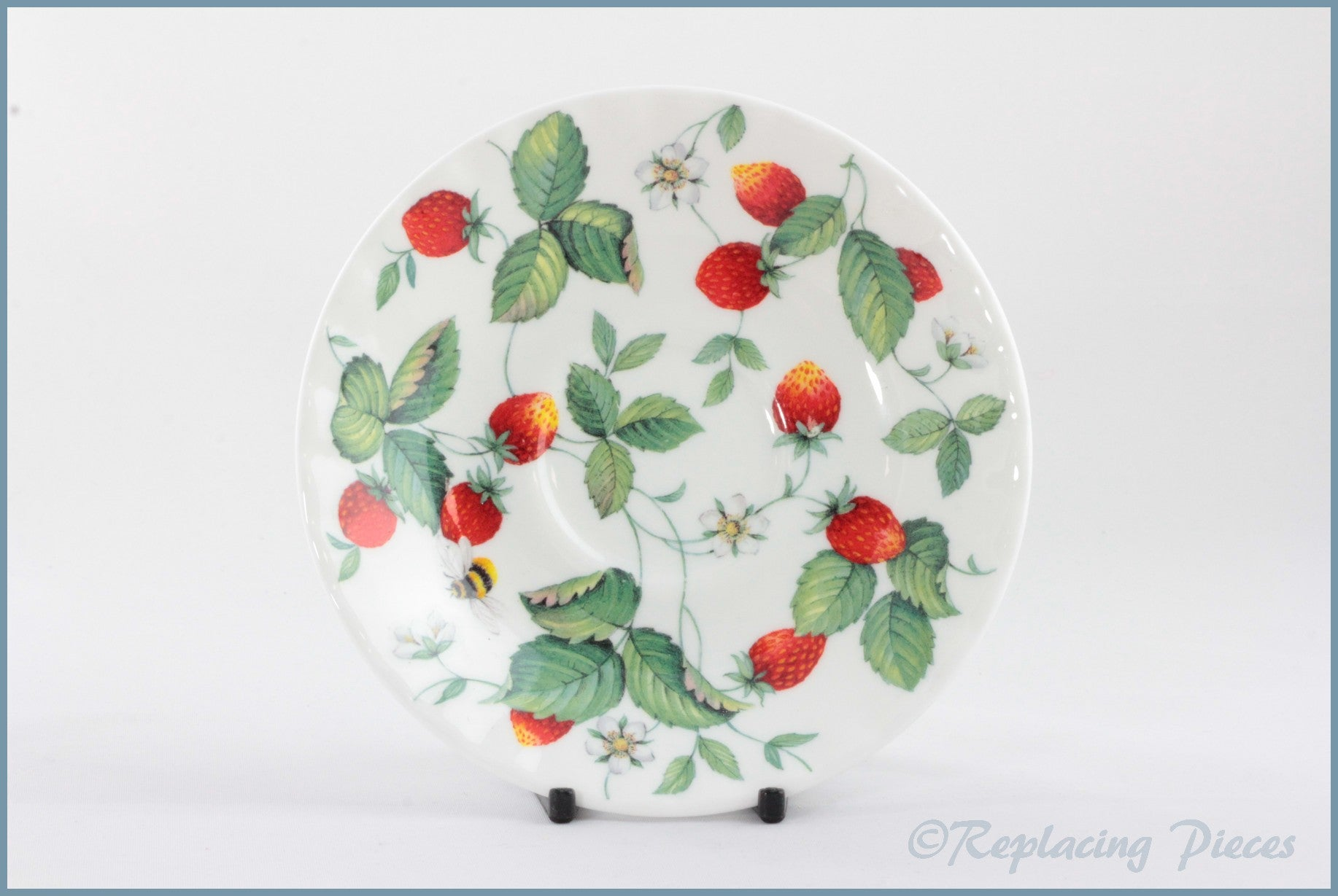 Roy Kirkham - Alpine Strawberry - Tea Saucer