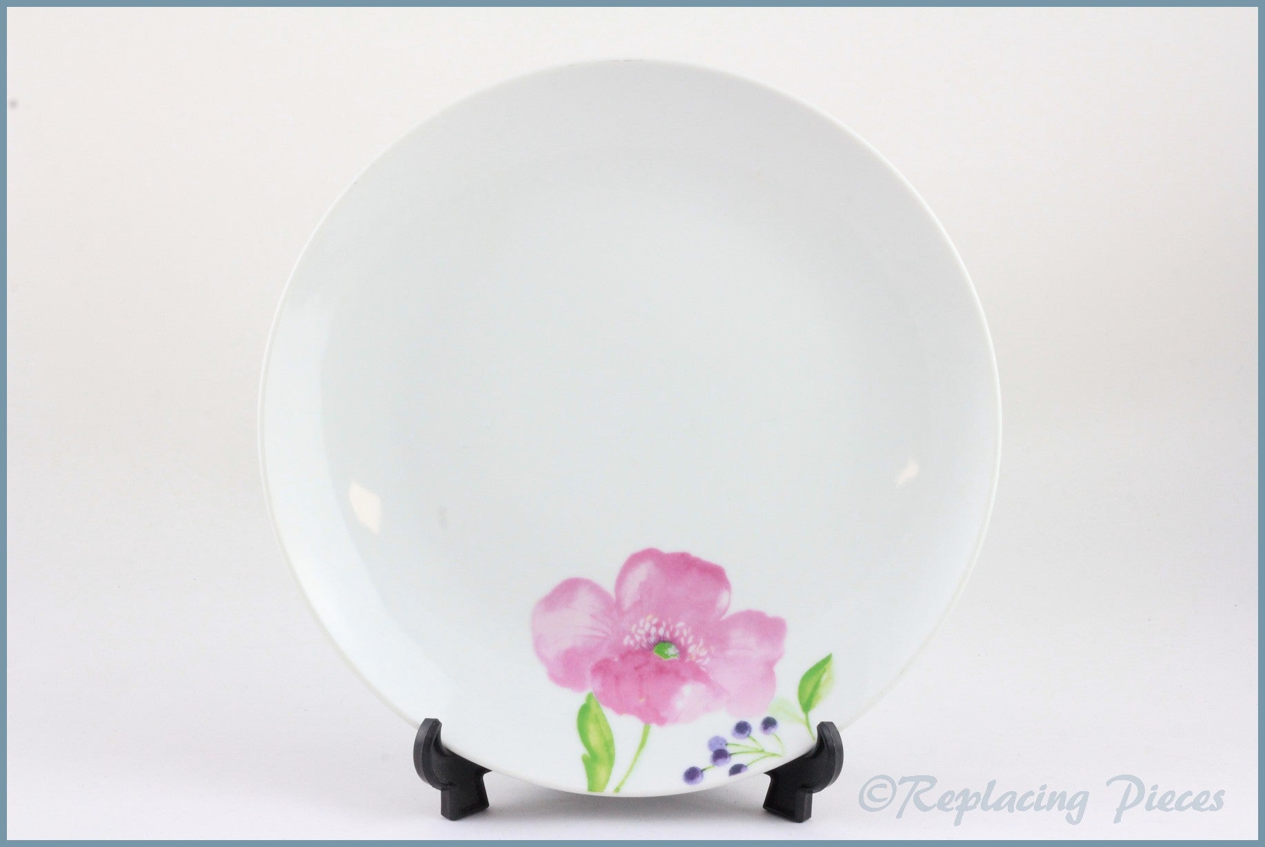 "Churchill - Unknown (Pink Flowers) - 7 7/8"" Salad Plate"