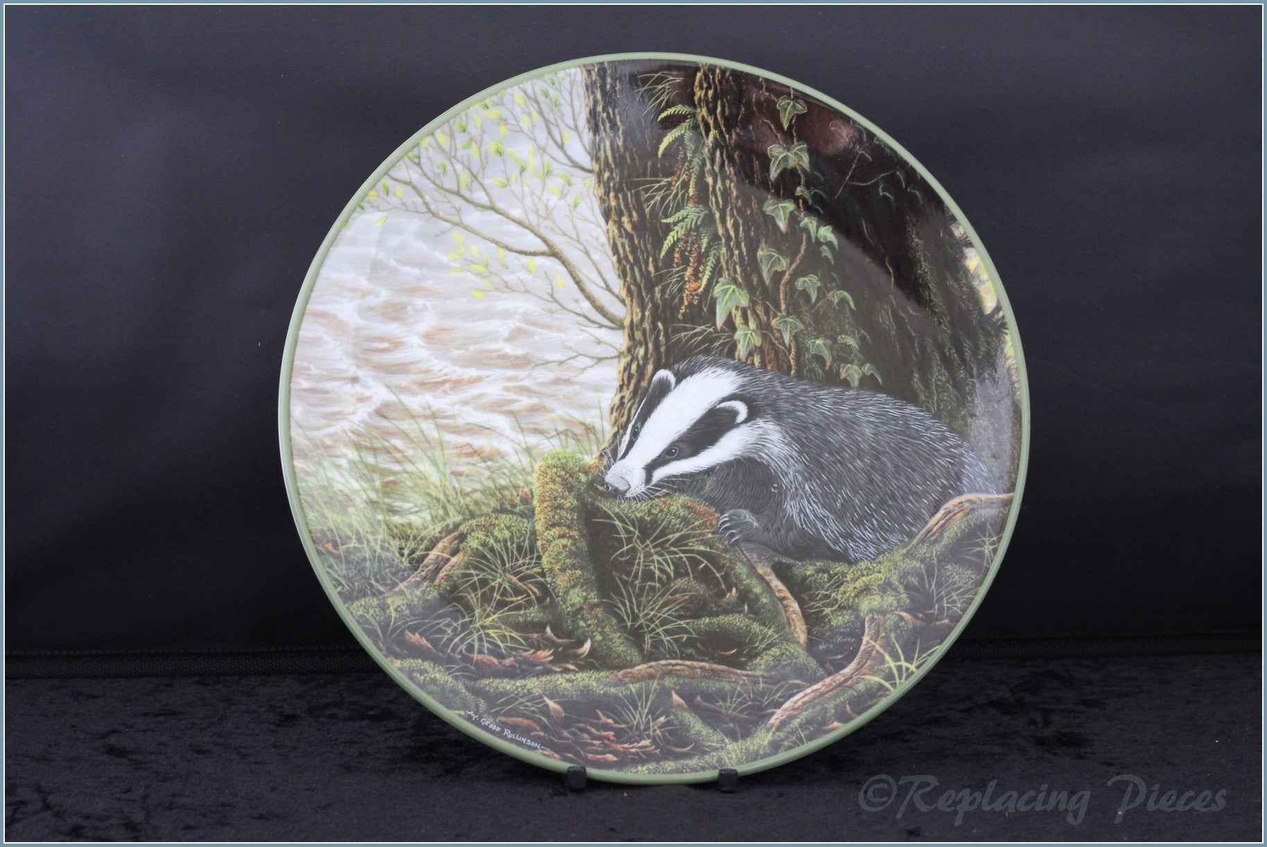 Royal Doulton - Rollinsons Portraits of Nature - The Badger On His Evening Prowl