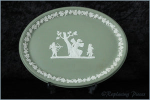 Wedgwood - Jasperware (Sage Green) - Dressing Table Tray