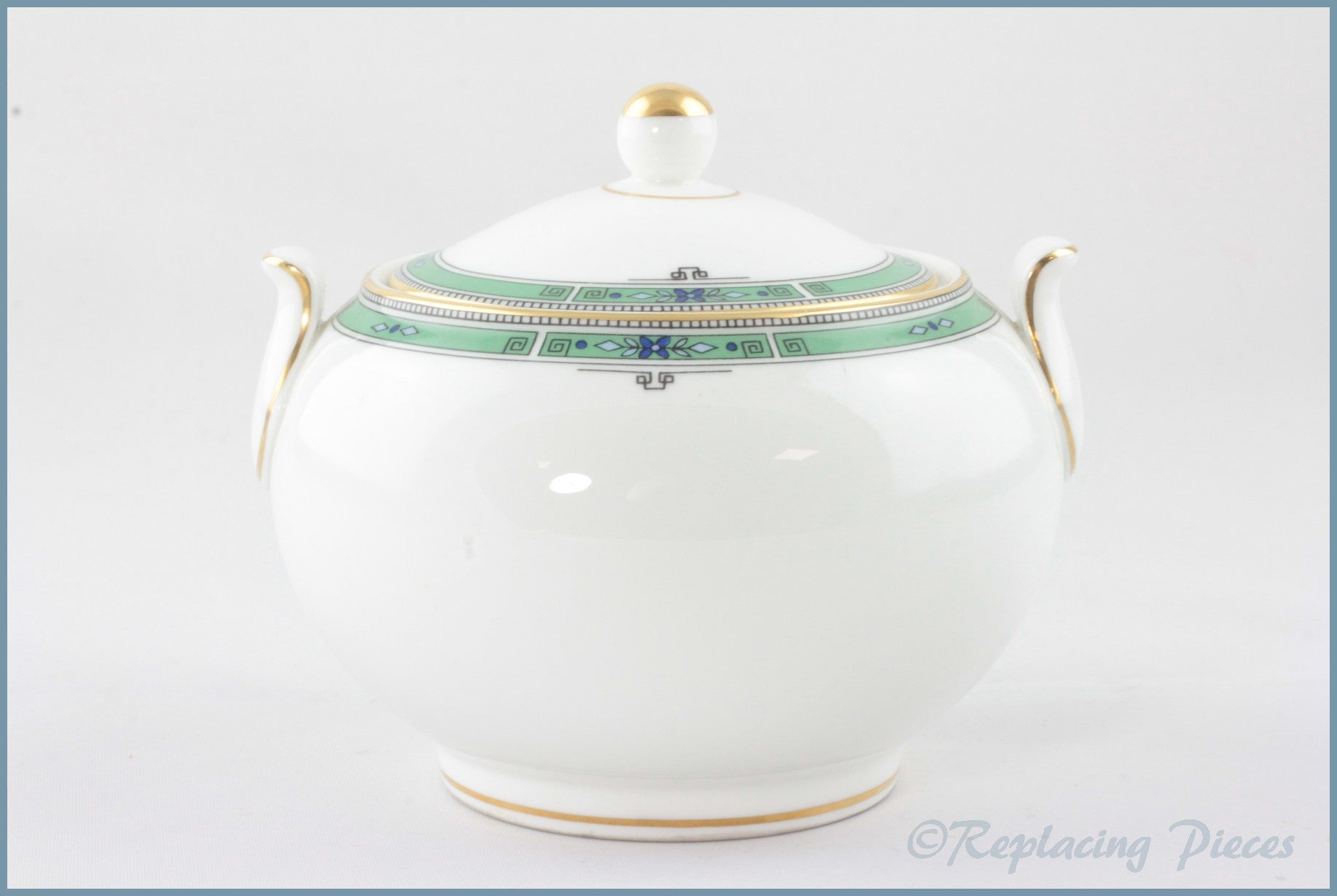 Wedgwood - Jade - Lidded Sugar Bowl (Squat)