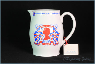 Adams - Queens Silver Jubilee - 1 1/2 pint Jug
