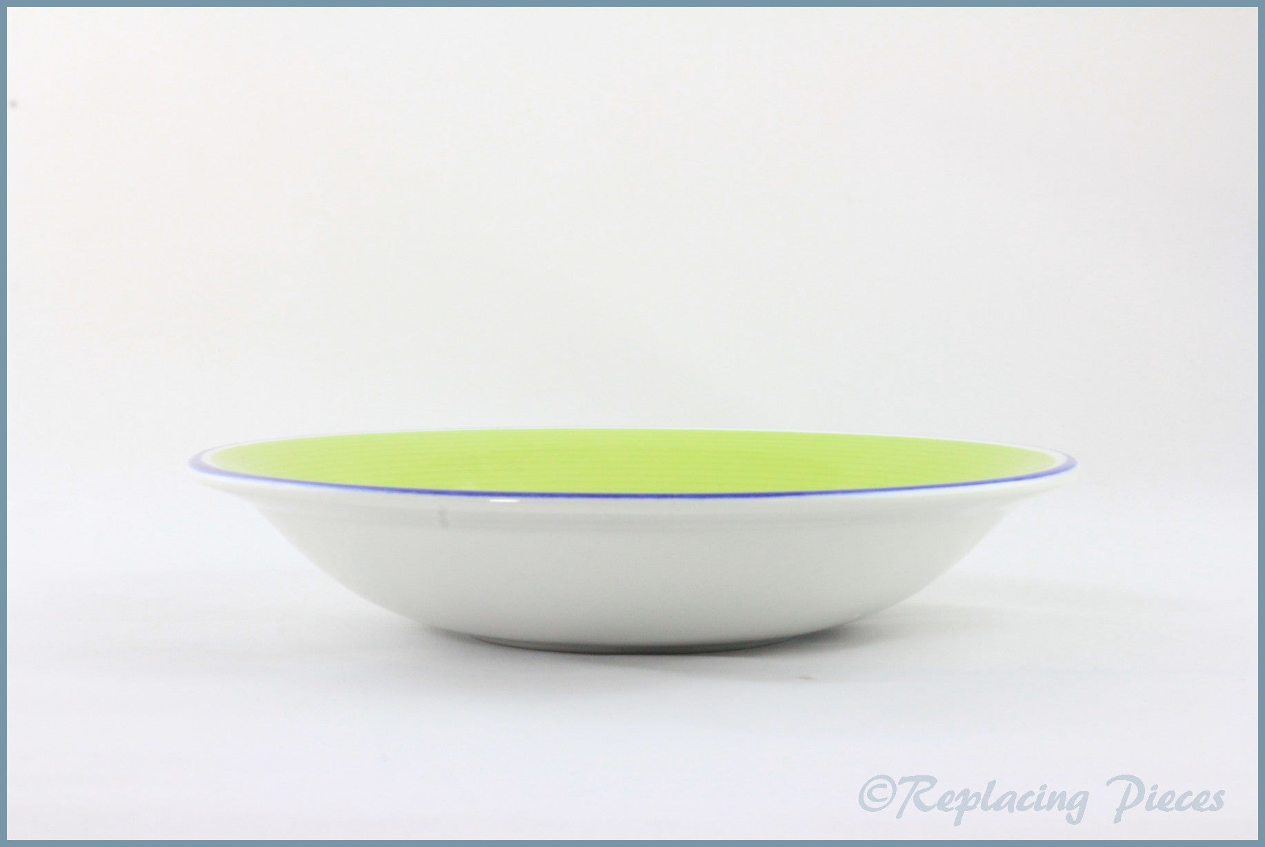 "Staffordshire - Avanti (Green) - 7 7/8"" Soup Bowl"
