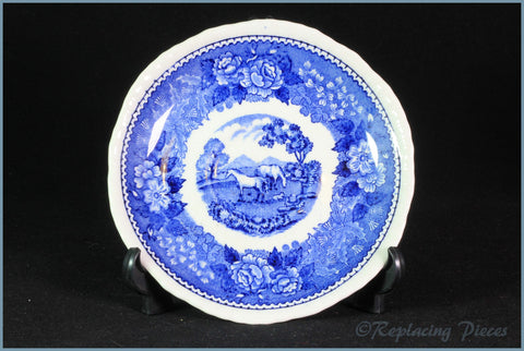 Adams - English Scenic Blue - Coffee Cup Saucer