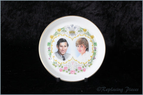 Crown Staffordshire - Coaster - Wedding Of Charles & Diana