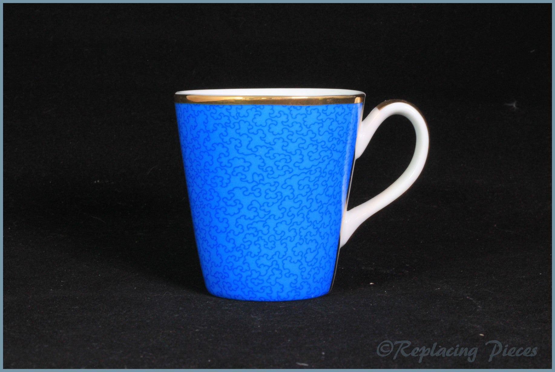 Royal Worcester - Celebration Of HRH 80th Birthday - Coffee Cup (Blue)