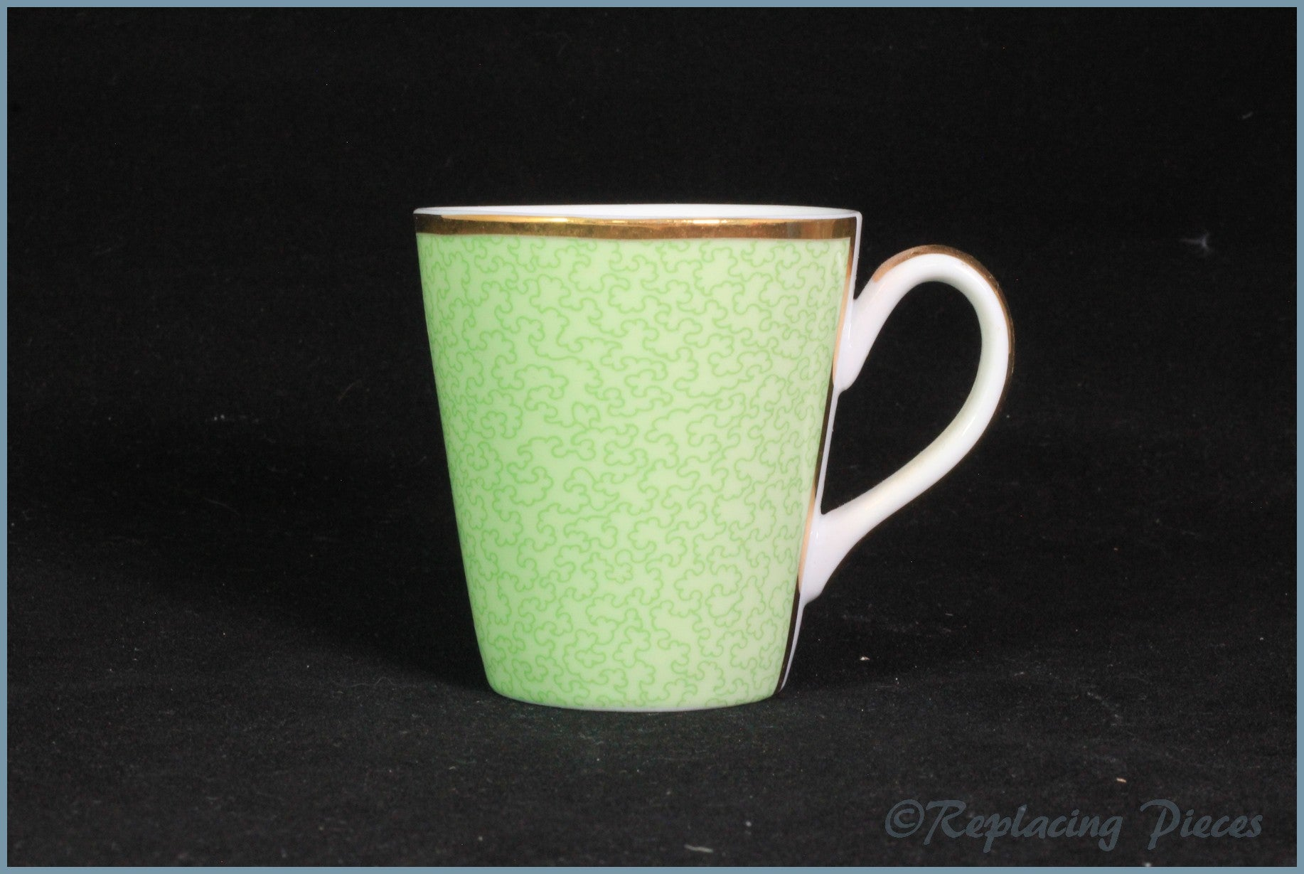 Royal Worcester - Celebration Of HRH 80th Birthday - Coffee Cup (Green)