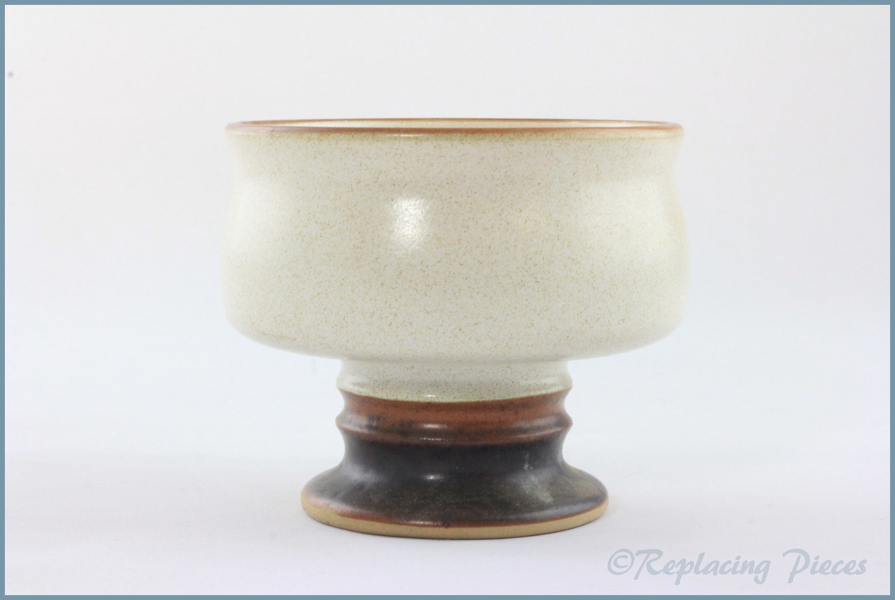 Denby - Potters Wheel (Tan) - Footed Dessert Bowl