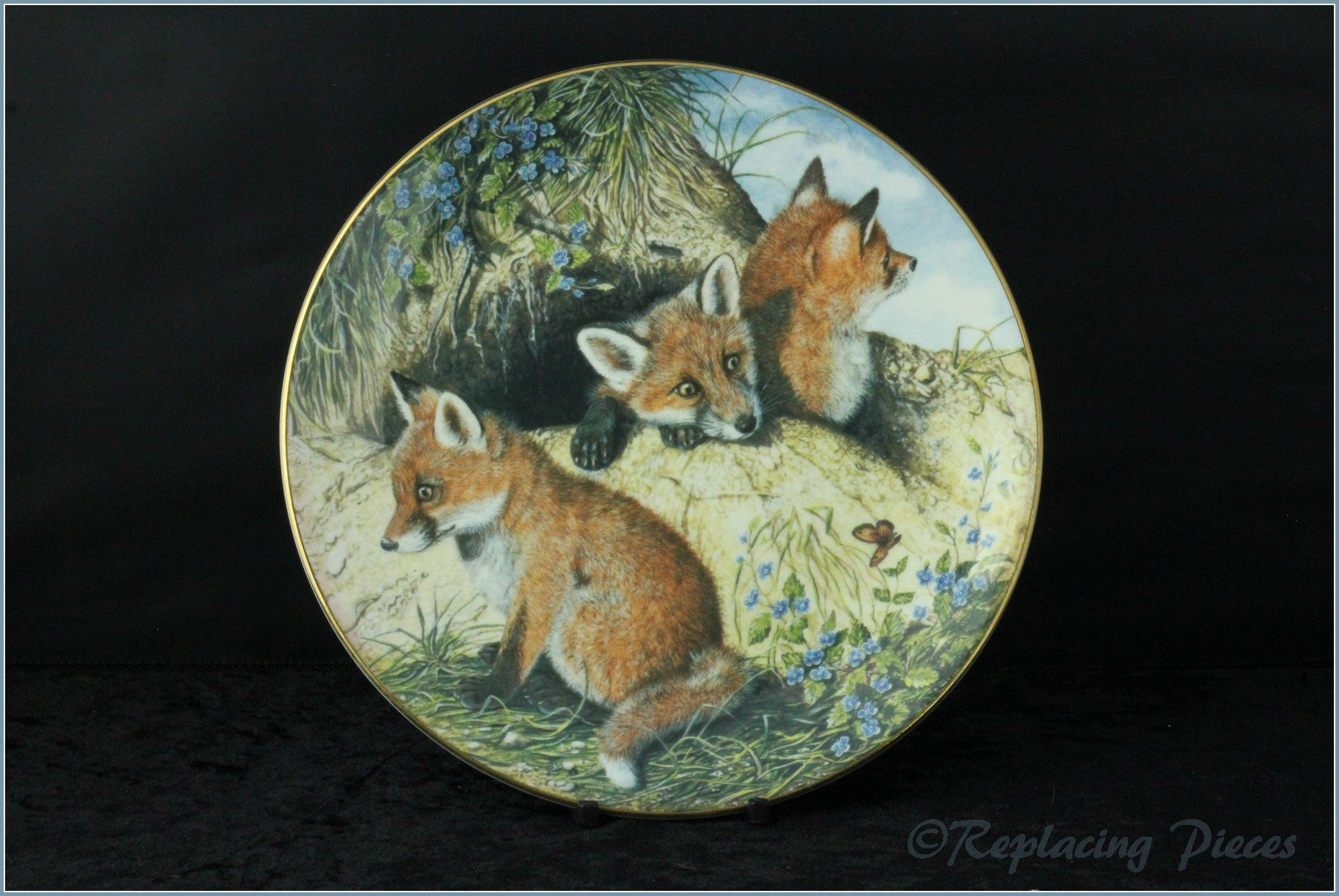 Royal Worcester - The Painted Seasons - The Little Fox Cubs