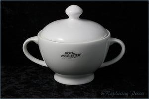 Royal Worcester - Serendipity (White) - Lidded Sugar Bowl