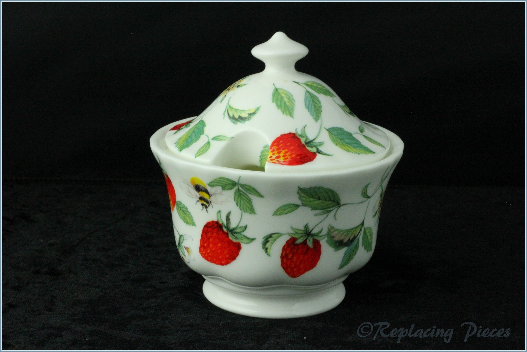 Roy Kirkham - Alpine Strawberry - Lidded Sugar Bowl
